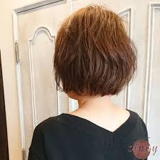 パーマありのショートヘアの髪型カタログ23選レディースメンズ Cuty