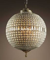 fancy crystal ball chandelier for your diy home interior ideas