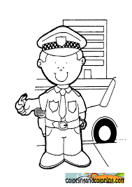 Free Coloring Pages Policeman Coloring Coloring And Coloring