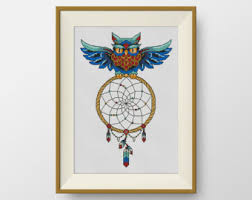 Dream Catcher Quilt Pattern BUY 10000 GET 100 FREE Owl Cross Stitch Pattern pdf counted cross 80