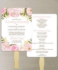 diy wedding program fan. instant download - floral diy printable wedding fan programs program editable diy