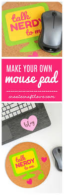make your own mouse pad all you need is a cork mat some adhesive