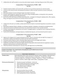 Resume Template Executive Assistant Skills Based Resume Template ...