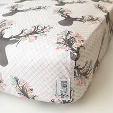 fl deer standard crib sheet changing pad cover baby blanket pillowcase woodland nursery baby girl bedding mint c