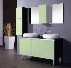 modern bathroom cabinet colors. Furniture Brilliant Modern Bathroom Vanity Cabinets Using Light Sage Green Paint Colors With Round Porcelain Vessel Cabinet
