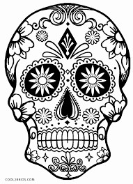 Awesome Skull Coloring Pages To Print 70 For Download Coloring