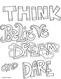 And above all else, guard your. Quote Coloring Pages Doodle Art Alley