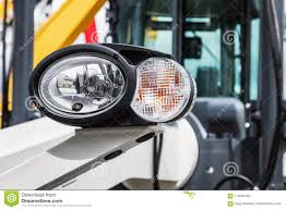 Parking Lights Car Headlights And Parking Lights Of A Truck Or Other Stock