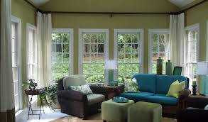 Image Plants Interior Incredible Sunroom Interiors Design With Transparent Curtain And Turquoise Leather Sofa Comfortable Sunroom Interiors Winrexxcom Interior Incredible Sunroom Interiors Design With Transparent