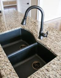 black granite composite sink with kohler oil rubbed bronze faucet