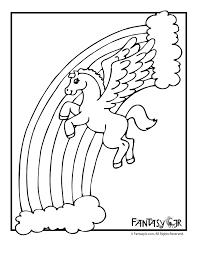 Small Picture Unicorn Pegasus Coloring Pages Woo Jr Kids Activities