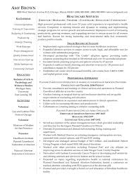 Resume Objective Examples Healthcare Consultant New Sample