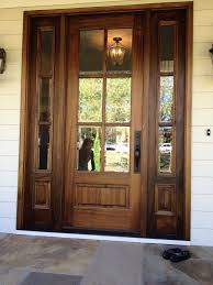 exterior wood doors with glass panels ideas