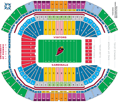 Cardinals Stadium Seating Chart Arizona Described Cardinals Stadium Seat Map Arizona Cardinals