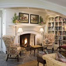french country home office. curved top bookshelves french country home office