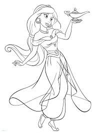 Disney Princess Coloring Pages Jasmine From The Thousand Photos On