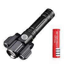 Đèn Pin LED Cầm Tay Siêu Sáng Mini Có Sạc USB Chống Nước - Hàng Chính Hãng  Tặng Kèm 1 Pin Sạc 18650 4200mAh - Đèn pin Nhãn hàng Mai Lee
