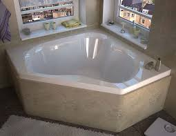 venzi tovila 60 x 60 corner soaking bathtub with center drain by atlantis
