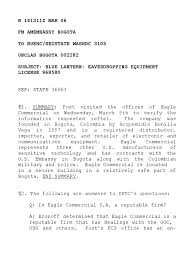 Cable 964 Us Embassy Report On Eavesdropping Equipment Supplier In