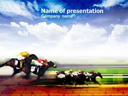 template horse horse racing powerpoint template backgrounds 00844