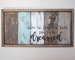 reclaimed wood inspirational wall art