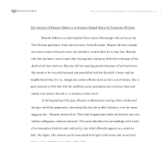 the analysis of blanche dubois in a streetcar d desire by  document image preview