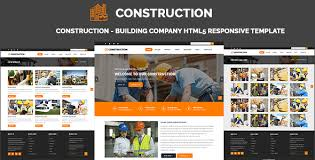 Construction Website Templates Magnificent Construction Building Company HTML28 Responsive Template By ThemeEarth