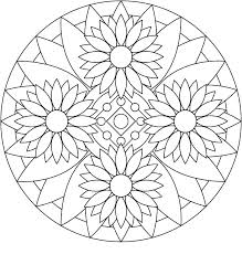 Flower Mandala Coloring Pages To Print Betterfor