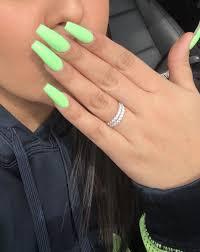 Solid Color Acrylic Nail Designs Ig Twitter Snapchat Alexisreyes711 Long Green Acrylic