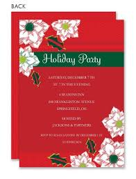 Pointsetta Christmas Invitations By Exquisite Papers