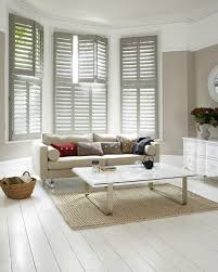Living Room Plantation Shutters modern-living-room