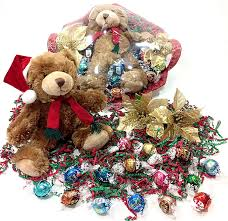 amazon holiday teddy bear gift basket lindt lindor gourmet chocolate truffles candy plush stuffed grocery gourmet food