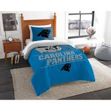 panthers 2 piece multi draft twin comforter set