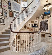 Simple and creative is the theme of this minimalist wonder. How To Decorate A Staircase Wall The Zhush Blog