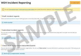 Enhanced Features For Wsh Incident Reporting Eservice