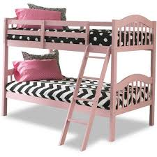 Storkcraft Long Horn Twin Over Twin Solid Hardwood Bunk Bed Pink