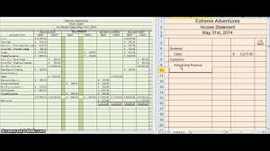 Creating An Income Statement