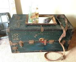 antique trunk coffee table vintage trunks and chests beautiful steamer wooden chest metal travel storage small