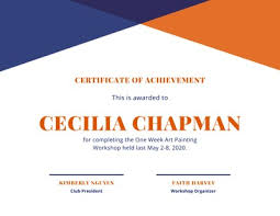 Achievement Awards Templates Customize 450 Award Certificates Templates Online Canva