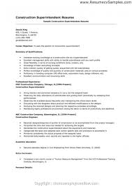 95 Construction Superintendent Resume Template Best 15 Elegant