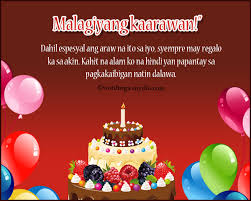 Happy Birthday Messages In Tagalog Wordings And Messages