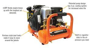 compresor industrial. features for industrial air contractor pontoon compressor with honda ohc engine \u2014 4 gallon, compresor 9