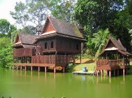Thai house (mock up) at Asian village, Malaka, <b>Malaysia</b> - <b>Beautiful</b> ...