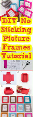 easy no sticking picture frame tutorial