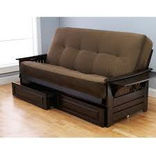 Brown Cushion Futon Beds Tar With Storage Drawers For Home