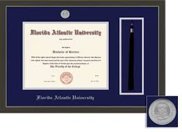 fau boca raton jupiter campus bookstore bookstore framing  framing success metro diploma tassel frame double matt modern slate gray a pewter finish