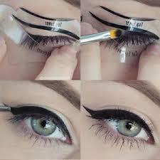 image is loading 2pcs eyeliner stencil smokey cat eye models eyeshadow