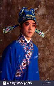 chinese opera man performer traditional clothing se make up