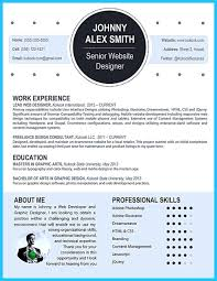 Original Resume Template Custom And Unique Artistic Resume Templates For Creative Work 59