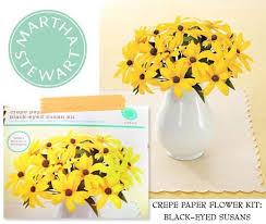 Martha Stewart Paper Flower Oh My Word Diy Martha Stewart Crepe Paper Black Eyed Susans